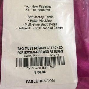 Fabletics Tops - New Fabletics Emma tank large berry